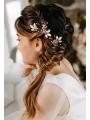 AW 2PCS Beading Wedding Hair Pins