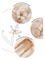 AW 2PCS Flower Gold Hair Pins