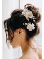 AW 2PCS Flowered Bridal Hair Clips