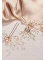 AW 2PCS Gold Rhinestone Hair Pins