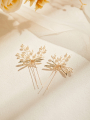 AW 2PCS Pearly Bridal Hair Pins