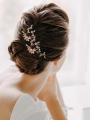 AW 2PCS Pearly Wedding Hair Pins