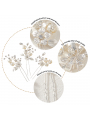 AW 3PCS Pearly Flower Hair Pins
