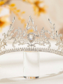 AW Crystal Bridal Silver Crown