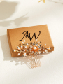 AW Crystal Gold Alloy Hair Comb