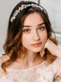 AW Crystal Wedding Bridal Hair Vine