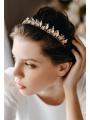 AW Flowered Gold Alloy Headband