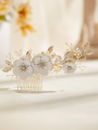 AW Gold Alloy Flowered Hair Comb