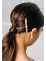 AW Gold Alloy Rhinestones Hair Comb