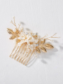 AW Gold Leaves Hair Comb