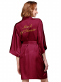 """AW Gold """"Maid of Honor"""" Pattern Satin Robe"""