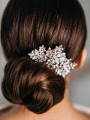 AW Pearly Silver Bridal Hair Comb