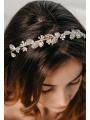 AW Rhinestoned Silver Hair Vine