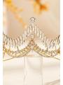 AW Rhinestones Gold Bridal Crown