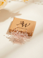 AW Rose Gold Alloy Hair Comb