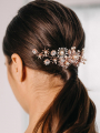 AW Rose Gold Pearly Hair Comb