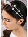 AW Silver Alloy Pearly Headband