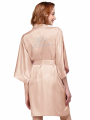 """AW Silver """"Maid of Honor"""" Pattern Satin Robe"""