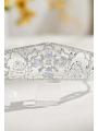 AW Silver Rhinestones Bridal Tiara