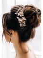 AW White Alloy Flower Hair Comb