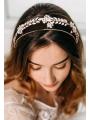 AW White Flower Rhinestoned Headband