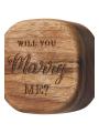 AW Wooden Wedding Ring Bearer