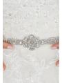 AW Silver Rhinestoned Wedding Belt