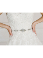 AW Bridal Sash with Pearls and Crystals
