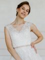 AW Rose Gold Rhinestone Bridal Sash