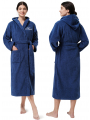 AW Long Cotton Hooded Bathrobes