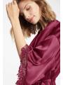 AW Short Satin Lace Robe