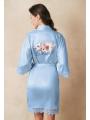 AW Short Satin Print Robe