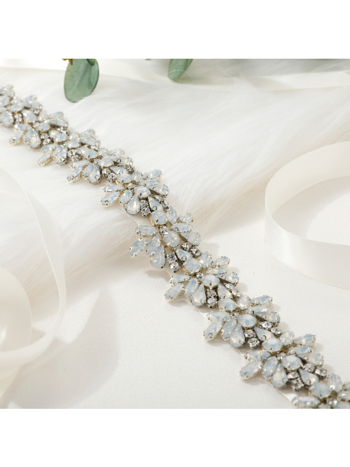 AW Bridal Belt with Crystals