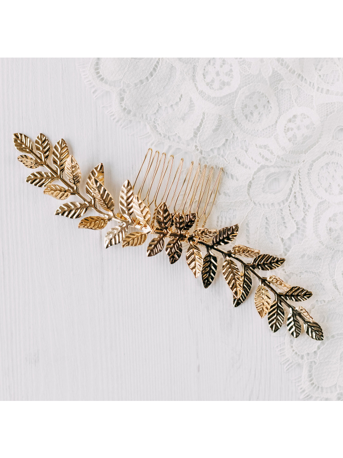 AW Leaves Hair Comb