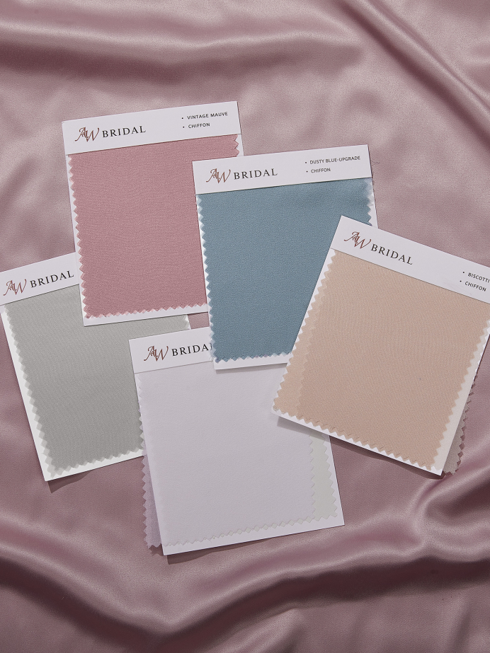 AW Chiffon Swatches for Bridal Dresses