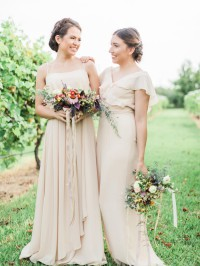 Bridesmaid dresses in Champange