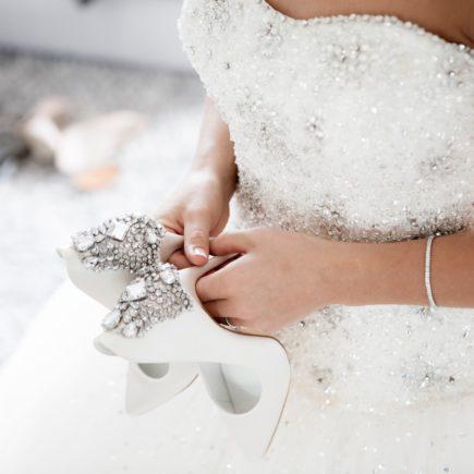 Bride Holding Her High Hills