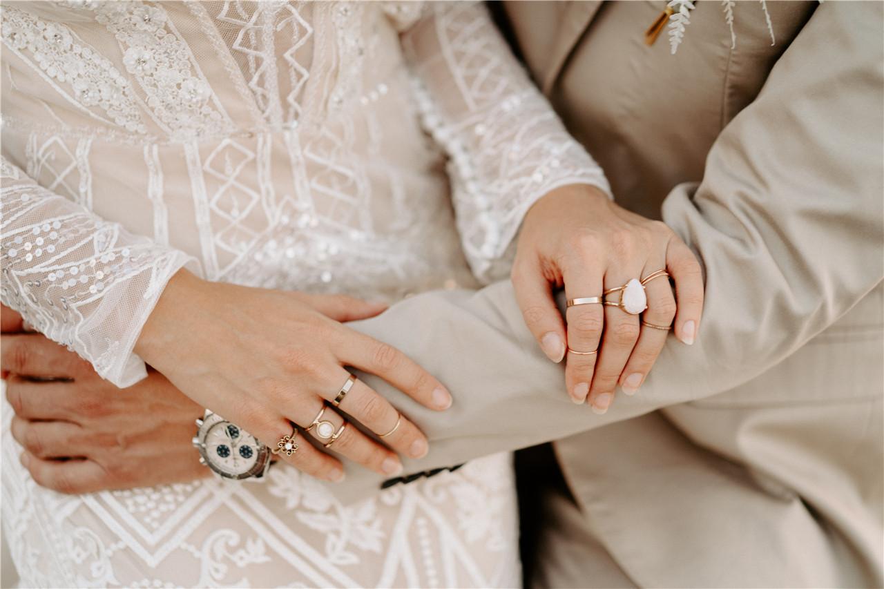 Bohemian Wedding Dress Detail