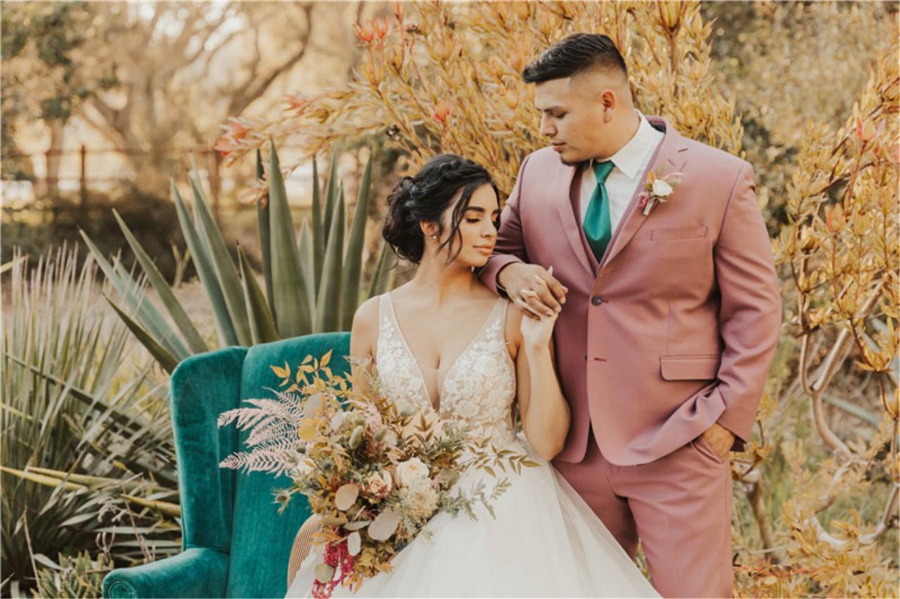 Central Coast California Bohemian Emerald Styled Wedding