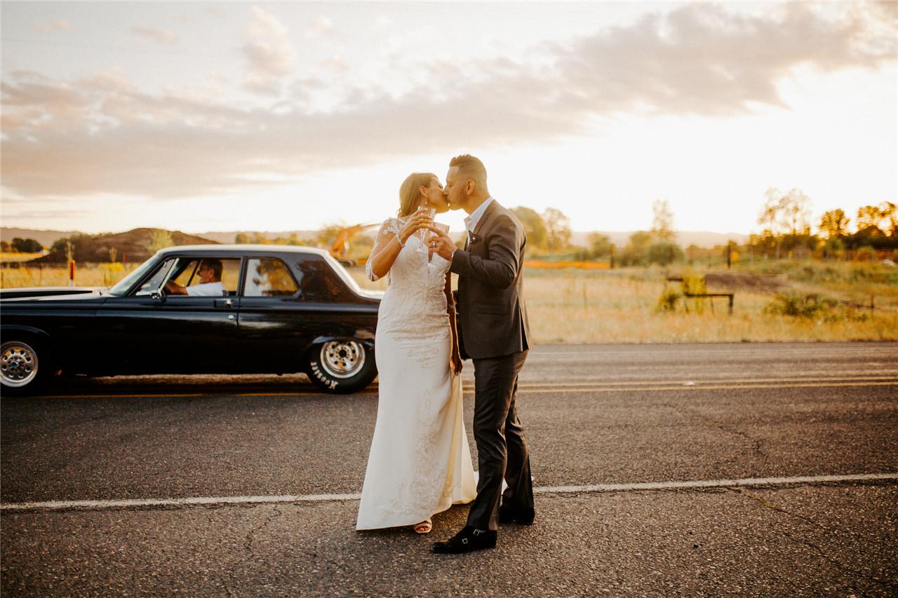 Road Bohemian Wedding