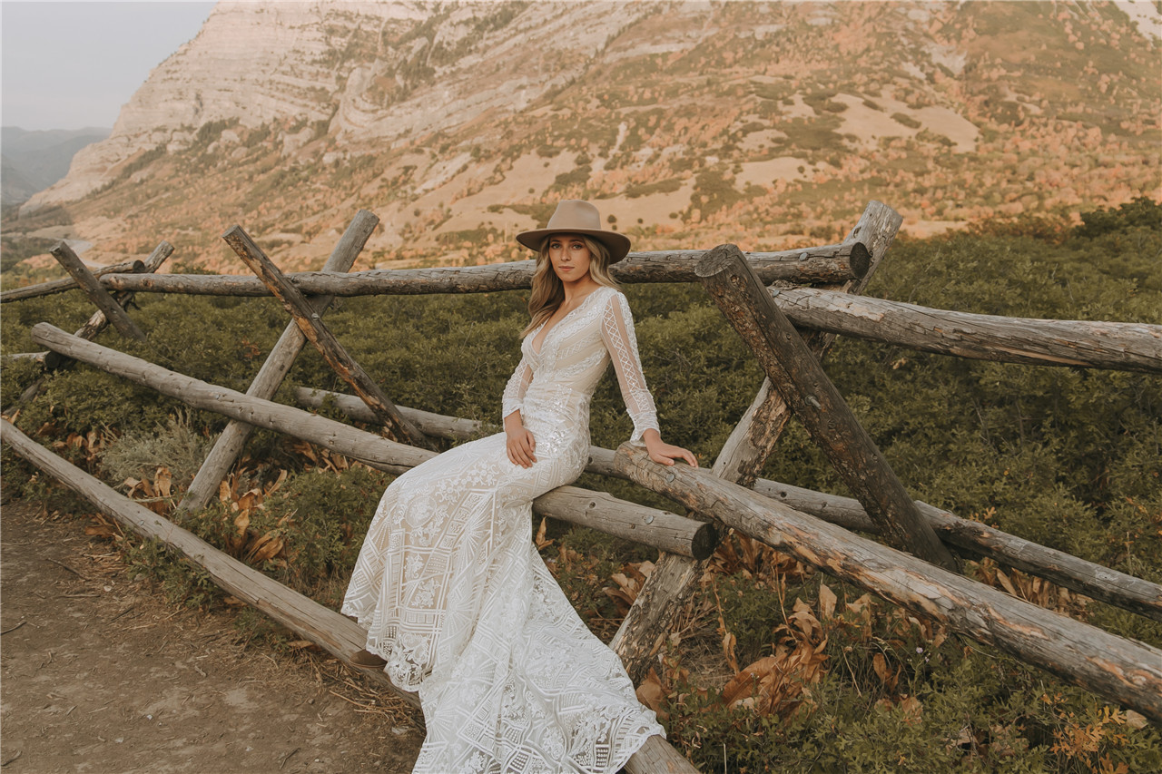 AW Esther Simple Wedding Dress, Only $399