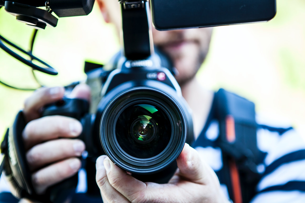 Wedding Photographer with a Camera